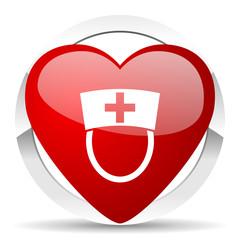 nurse valentine icon hospital sign