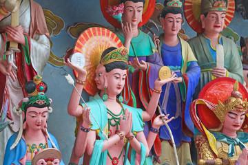 colorful buddha sculpture