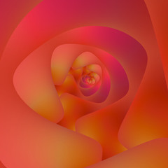 Spiral Labyrinth in Pink and Orange