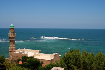 Old Jaffa seashore