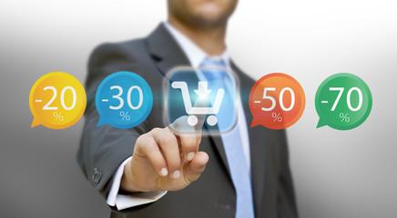 Businessman shopping online