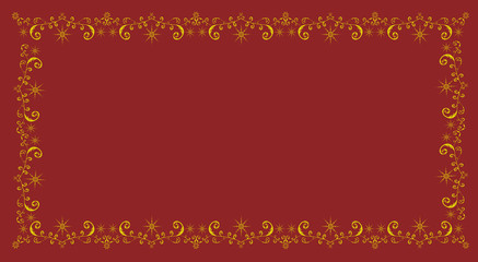 Frame for congratulations on a red background