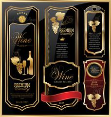 Elegant wine labels