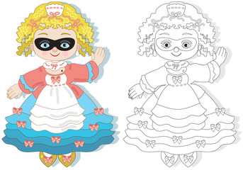Coloring picture-Colombina