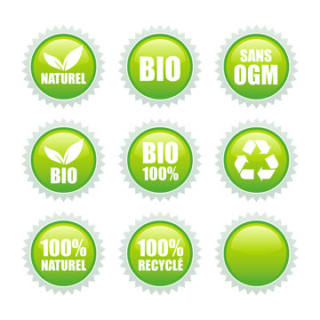 eco green labels collection
