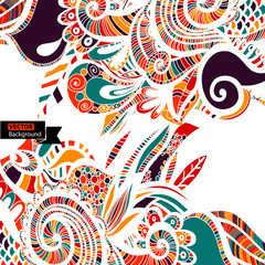 Abstract colour shape pattern. Vector