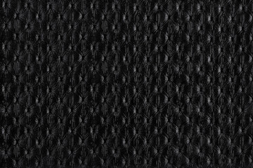 Wall Mural - Black leather texture