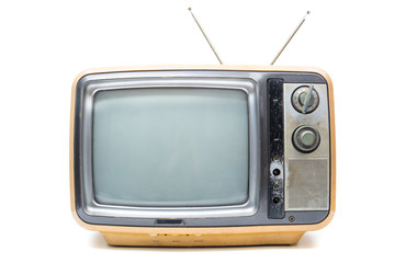 Vintage TV on  white background