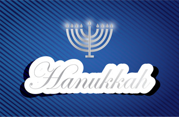 hanukkah work text sign and candles