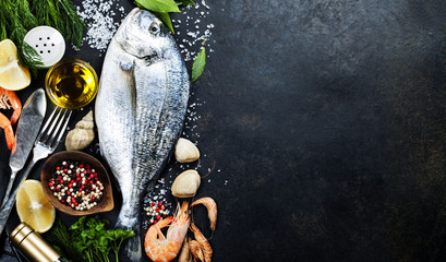 Foto op Canvas Vis Delicious fresh fish