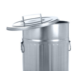 Recycling bin isolated on white