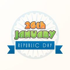26 January, Indian Republic Day celebration with Ashoka Wheel.