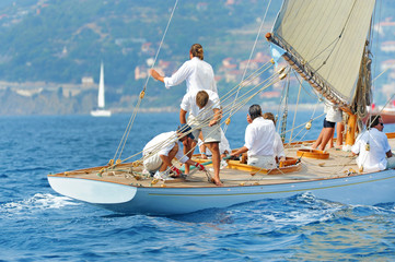 Spoed Foto op Canvas Zeilen Yacht