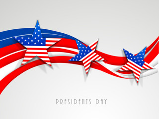 American Flag color waves for Presidents Day celebration.
