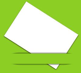 bandeau vert sur carte blanche