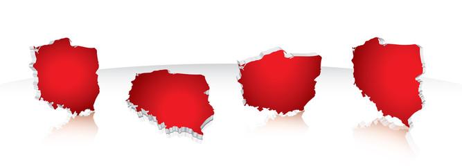 Map of Poland 3D