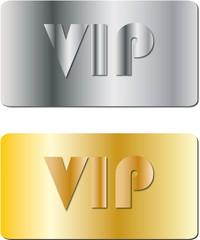Targhette Vip Argento e oro