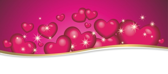 Banner zum Valentinstag