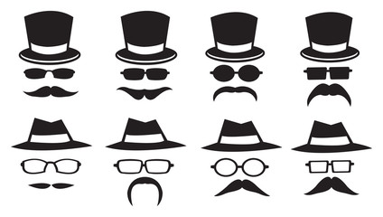 Hats and Moustaches Icons
