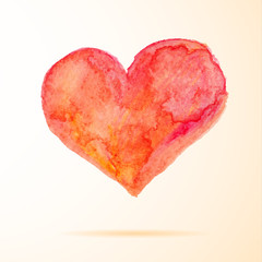 Bright watercolor  heart