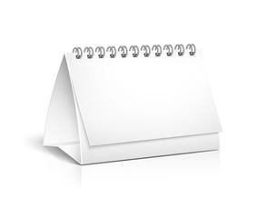 Blank spiral desktop calendar