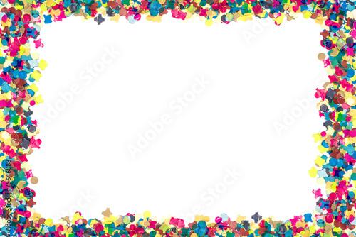 Konfetti Karneval Rahmen Stockfotos Und Lizenzfreie Bilder Auf
