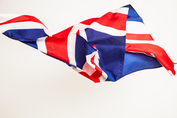 The fall of the flag of Britain. Falling leaf of a great state.