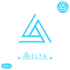Delta letter logo template