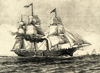 Savannah - first steamship to cross the Atlantic Ocean,