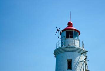 Lighthouse Tokarevskaya koshka vane anemometer in Vladivostok