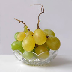 Grapes in a bowl.