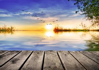 un rincon para descansar en el lago