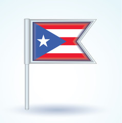 Flag set of Puerto rico, vector illustration