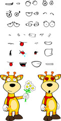 giraffe funny cartoon expressions set pack05