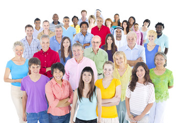 Large Multi-Ethnic Group People Team Concept