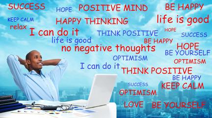 Positive thinking black man.