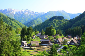 World heritage site Gokayama, Toyama, Japan