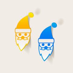 realistic design element: Santa Claus