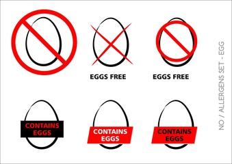 Vector Egg Free Symbols on white background