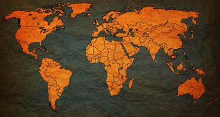 cambodia territory on world map