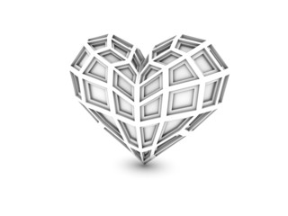 Extruded heart