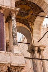 Dettagli della Basilica di San Marco, Venezia, Veneto, Italia