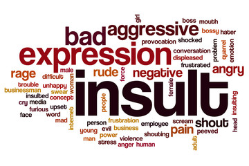 Insult word cloud