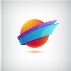 vector abstract colorful icon, logo