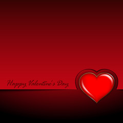 Valentines Day card - background template