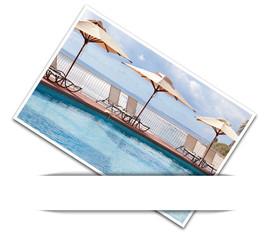 photo de piscine sous bandeau