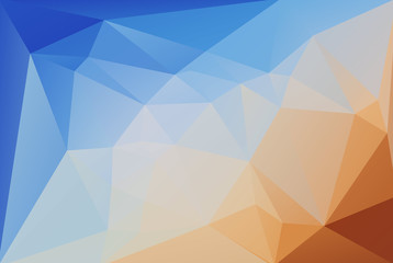 Abstract background. Transition from blue to orange