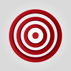 Vector red target