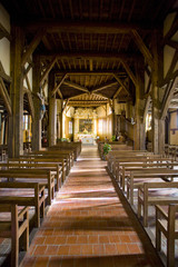 interior of church in Outines, Champagne, France