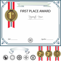 Award template with additional design elements